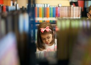 Child in Stacks